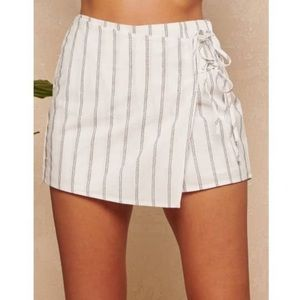 Striped White Skort- BRAND NEW WITH TAGS